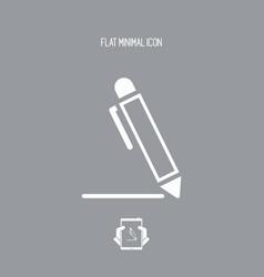 pen - flat icon vector image