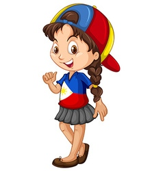 Philippines girl wearing a cap vector
