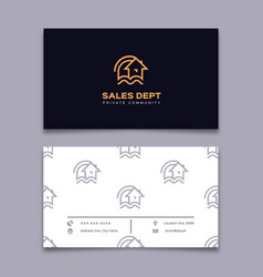 Private community business card house icon home vector