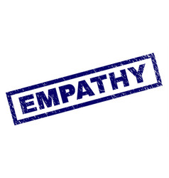 Rectangle grunge empathy stamp vector