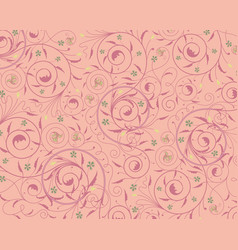 Seamless purple floral wallpaper vector