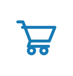 shopping cart graphic icon design template vector image