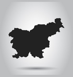 slovenia map black icon on white background vector image