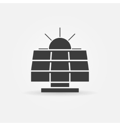 Solar energy icon or logo vector