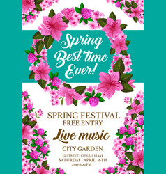 Spring holiday festival invitation card vector