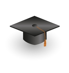 square academic cap vector image