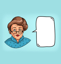 Stylish grandmother with retro hairstyle glasses vector