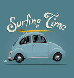 summer vacation surfing trip themed vector image