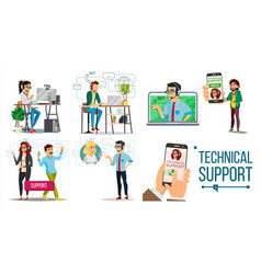 technical support online 24 7 technical vector image