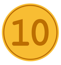 ten gold coin vector image