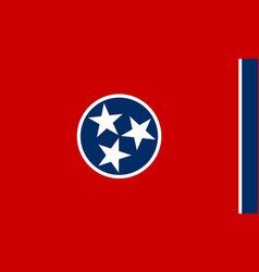 Tennessee state flag simple flat vector