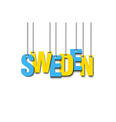The word sweden hang on the ropes vector