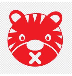 Tiger face emotion icon sign design vector