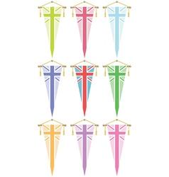 Uk flag pennants vector