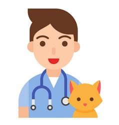 Veterinarian icon profession and job vector