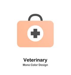veterinary mono color icon vector image