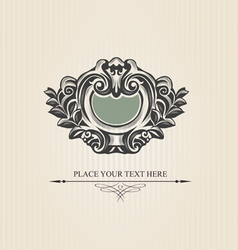 Vintage luxury shield vector