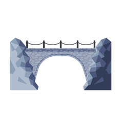 Vintage stone bridge architectural design element vector