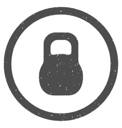 Weight Iron Icon Rubber Stamp vector image