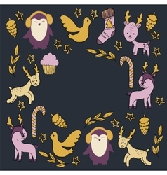 With animals and additional elements vector