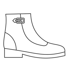 Woman boots icon thin line vector