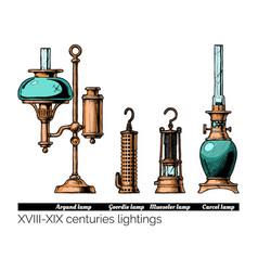 xviii - xix centuries lightings vector image