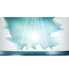 Digital abstract empty light frozen icy vector image vector image