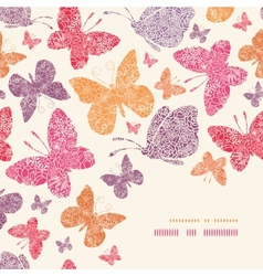 Floral butterflies corner decor pattern background vector image