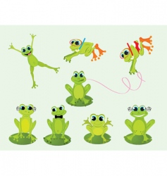 frogs set vector image vector image