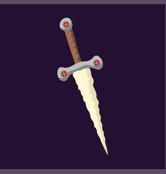 knife weapon dangerous metallic razor of sword vector image