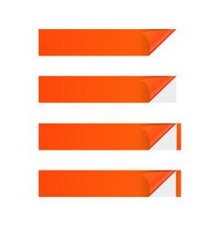 sticker banner orange vector image