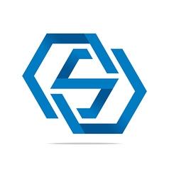 Symbol hexa letter s icon logo abstract vector