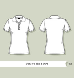 Women polo t-shirt Template for design easily vector image