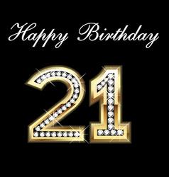 21th happy birthday vector image vector image