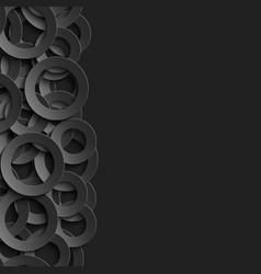border with paper cut 3d black circles vector image vector image