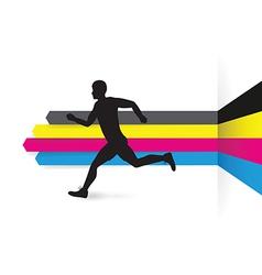 cmyk side runner vector image vector image