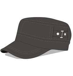 Green military cap vector image