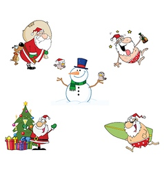 Holidays Cartoon Characters- Collection vector image vector image