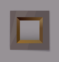 metal frame blank with gold internal faces vector image