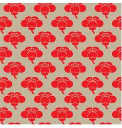 seamless sakura flower pattern vector image