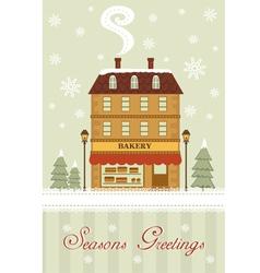 Seasons greetings Bakery vector image