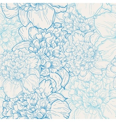 background with pattern of beautiful peonies vector image vector image