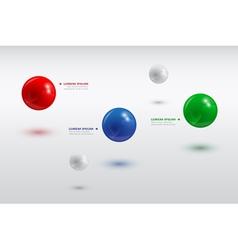 balls infographic 3 vector image