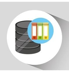 Hand holds data folder document icon vector