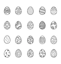 outline icon easter vector image
