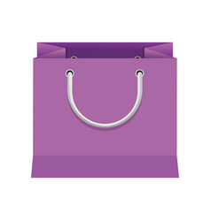 purple paper bag gift present package empty vector image