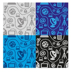 web technology seamless pattern vector image