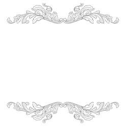 baroque vintage elements vector image vector image