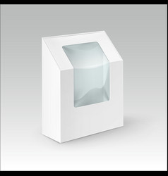 Cardboard rectangle take away box for sandwich vector