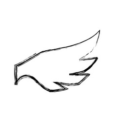feathers wing silhouette vector image